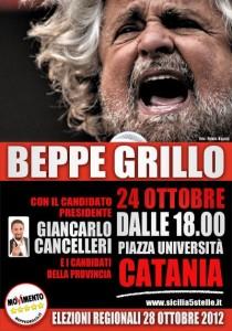 Beppe Grillo a Catania