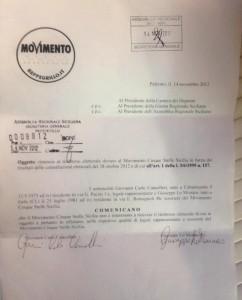 Rifiuto Rimborsi Elettorali Sicilia - Movimento5Stelle