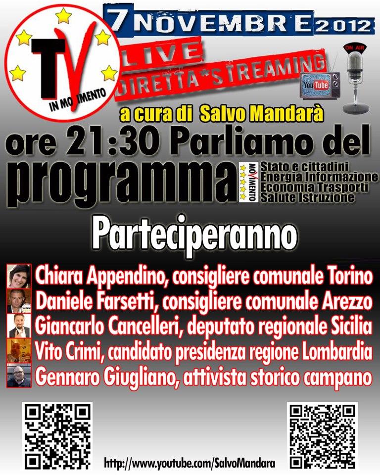 Lancio TV5stelle 7 Novembre