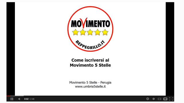 Video come iscriversi al movimento 5 stelle scordia 5 for Movimento 5 stelle camera