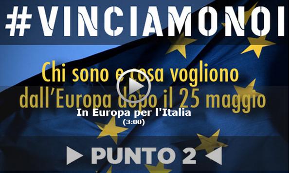 Programma MoVimento 5 stelle europee 2014